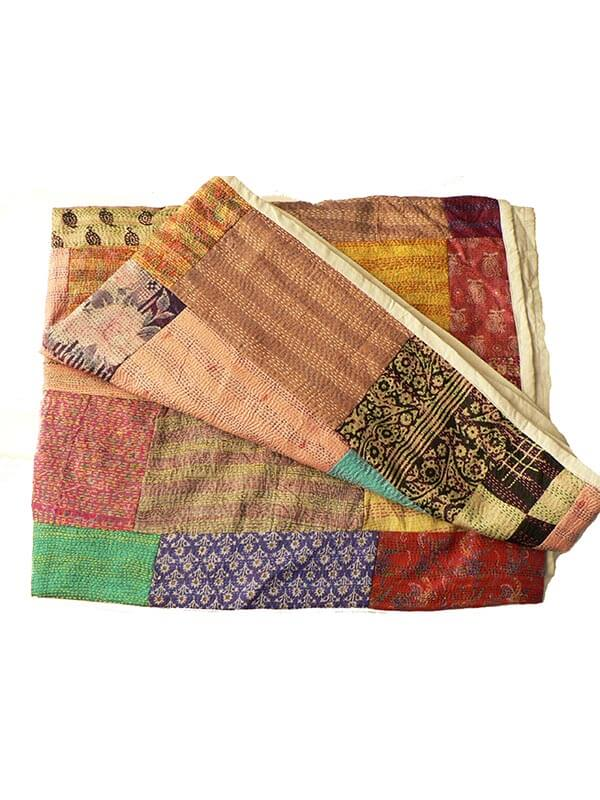 grand foulard zijde patchwork