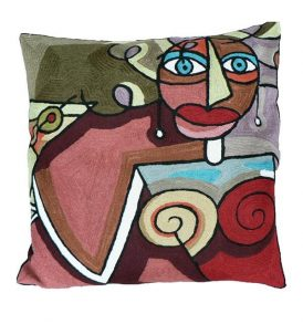 Kussen Picasso vrouw
