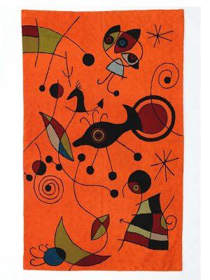 Tapijt-Miro-oranje