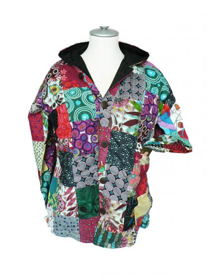cotton jacket patchwork puntmuts