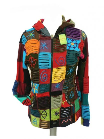 vest patchwork katoen 2