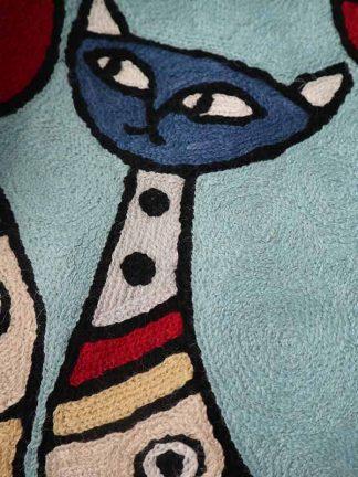 blauw kussen RW detail