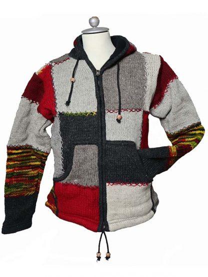 Wollen vest Nepal patchwork S