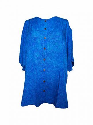 plussize batik blouse