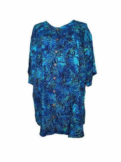 blauwe batik bloes