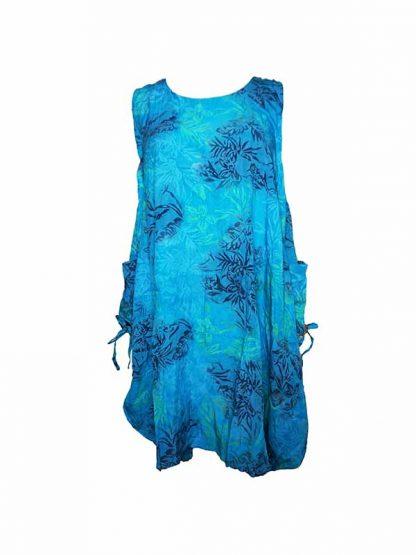 turqoise jurk