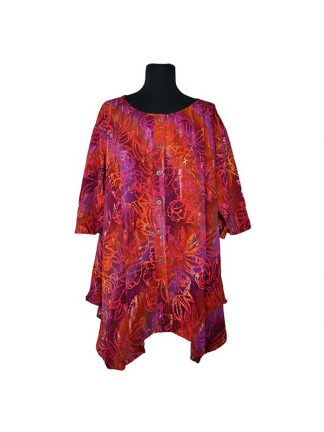 batik blouse Paris oranje