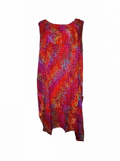 plussize batik jurk