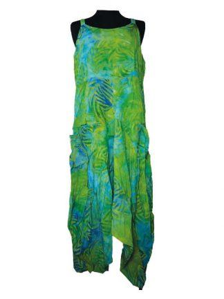 batik jurk Lisa groen