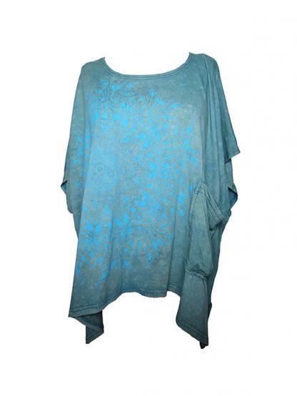 Oversized t-shirt aqua