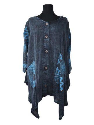 Plussize bloes Freya blauw