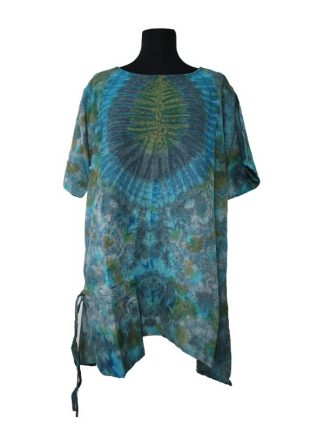 blouse tiedye 1-pocket petrol