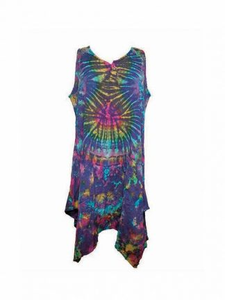 dress tiedye Nepal paars