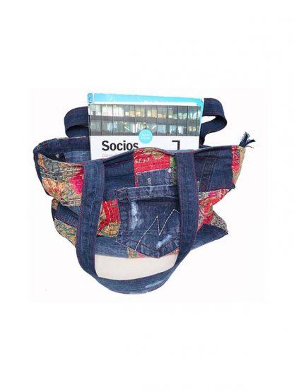 Handgemaakt tas van spijkerbroek