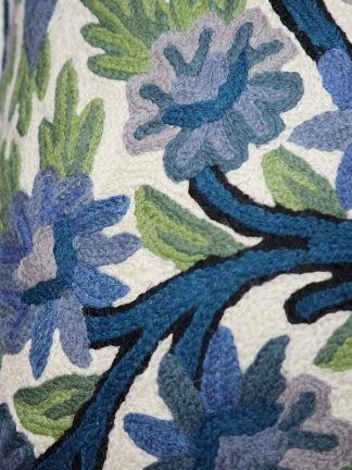 blauw groene bloemen detail