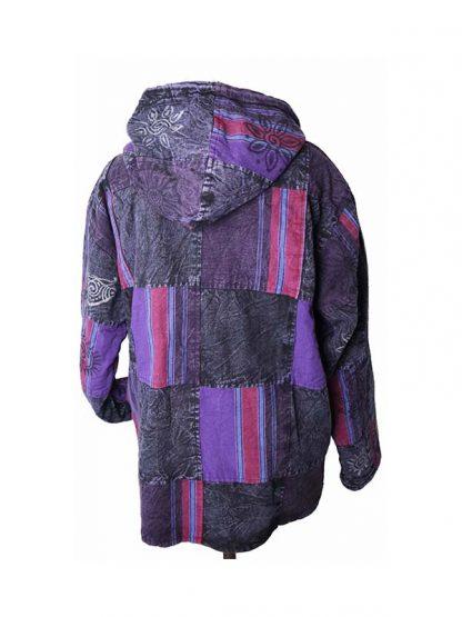 paarse jas achterkant