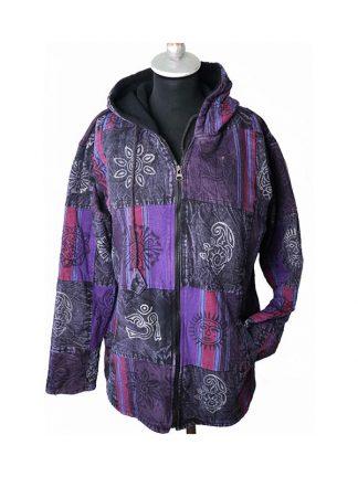 paarse jas voorkant