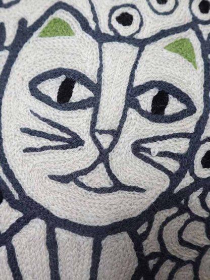 kussen kattenkoppen detail