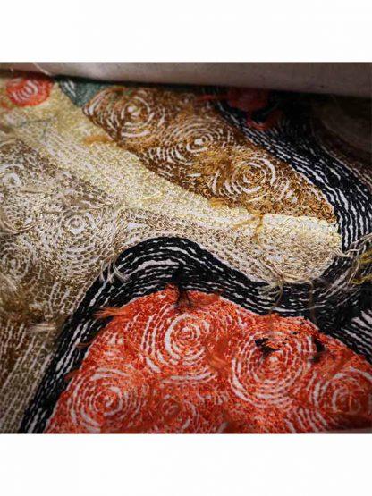 Sierkussen glans Kandinsky achterkant