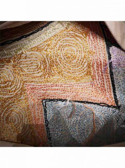Sierkussen glans Picasso gezicht links kleur 2 achterkant