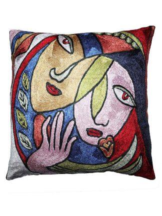 Sierkussen glans Picasso kleur 2