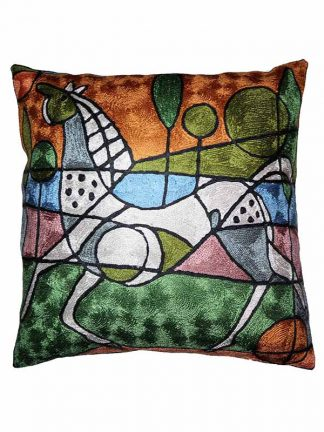 Zijden kussen Picasso paard