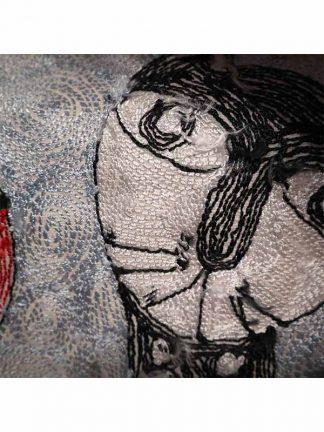 Zijden kussen Rosina Wachtmeister achterkant