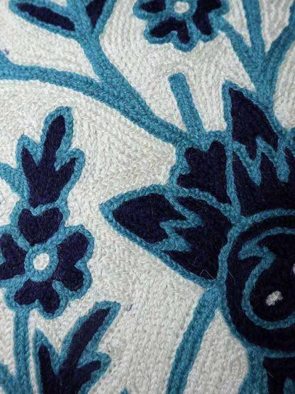 blauwe bloemen detail