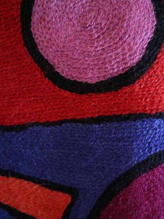 handmade cushion Kandinsky detail