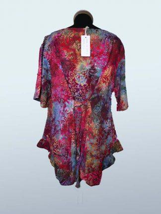 Batik blouse Billy multi achterkant