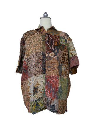 Batik herenbloes L kleur 1