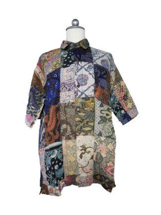 Batik herenbloes L kleur 2