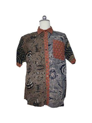 batik herenbloes kleur 2 M