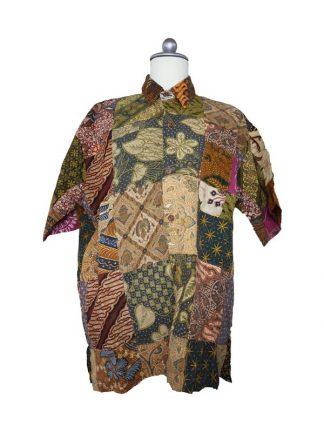 Batik herenbloes maat XL kleur 1