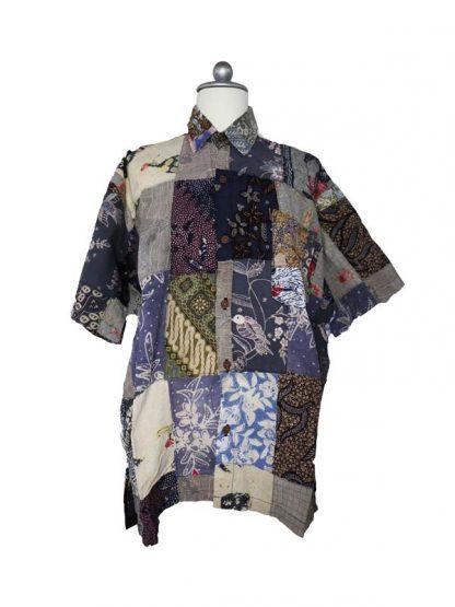Batik herenbloes maat XL kleur 3