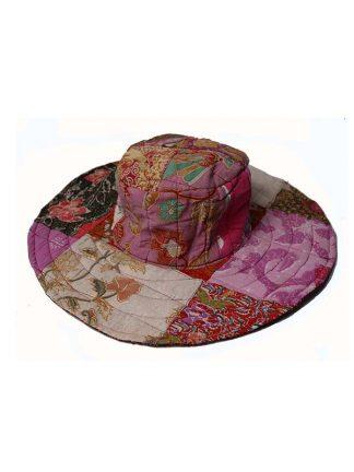 batik hoed roze/bruin
