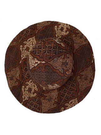 omkeerbare batik hoed groen/bruin