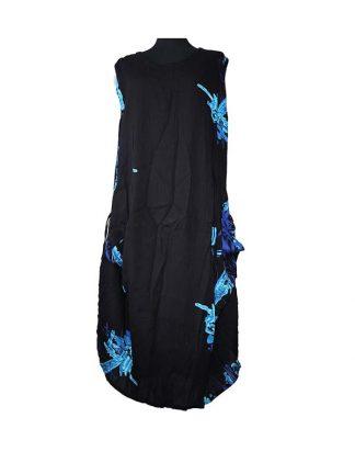 Batik dress string crinkle