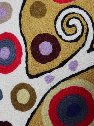 Gustav Klimt levensboom wit detail