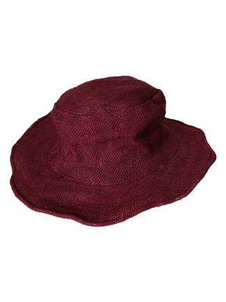 Hennep hoed aubergine 1