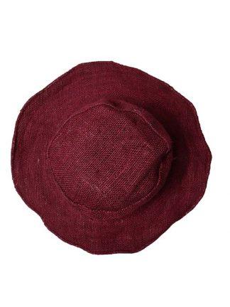 Hennep hoed aubergine