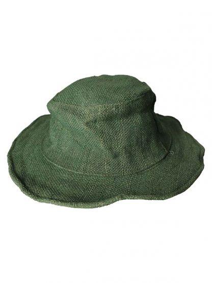 Hennep hoed groen