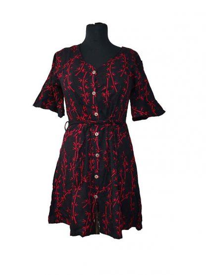 batik jurkje met mouw