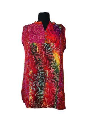 batik top met kraagje