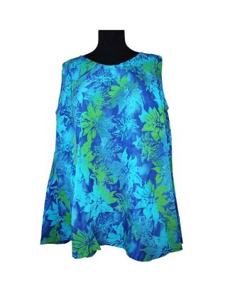 Batik top Esmee turqoise