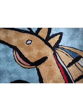 Wandkleed paard kleur 1 detail