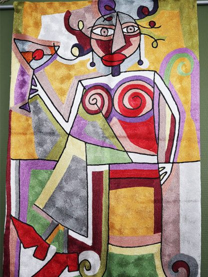 wandkleed picasso vrouw