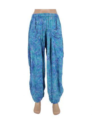 batik broek Lily blauw
