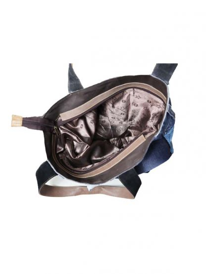 jeansbag double binnenkant