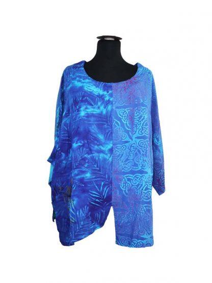 patchwork batik top